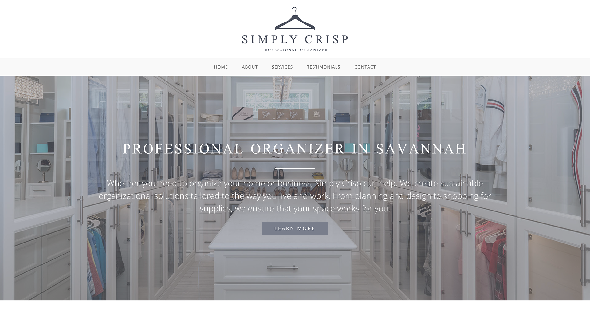 Simply Crisp Website Preview - Lauren Dingus Creative - Savannah, GA