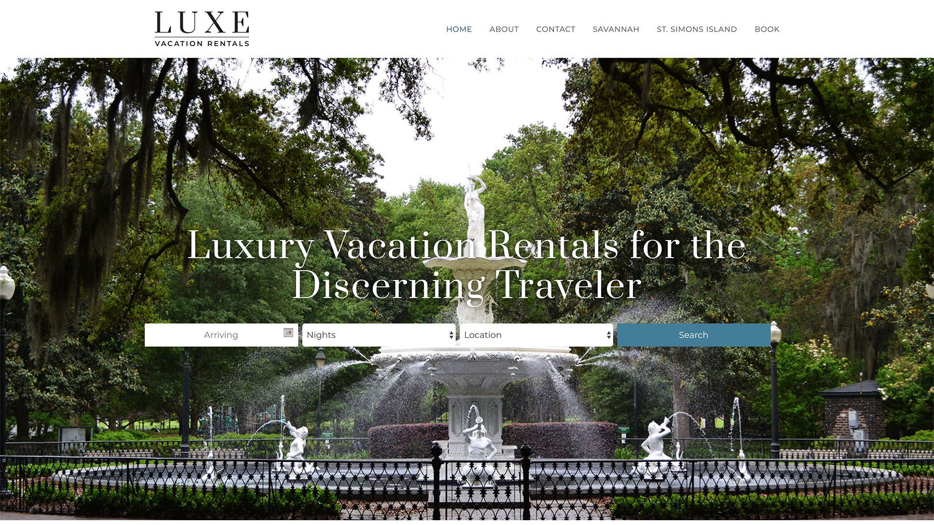 Luxe Vacation Rentals Web Design - Lauren Dingus Creative - Savannah, GA